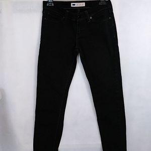 Levi's Demi Curve Low Rise Skinny Black Jeans Sz 7